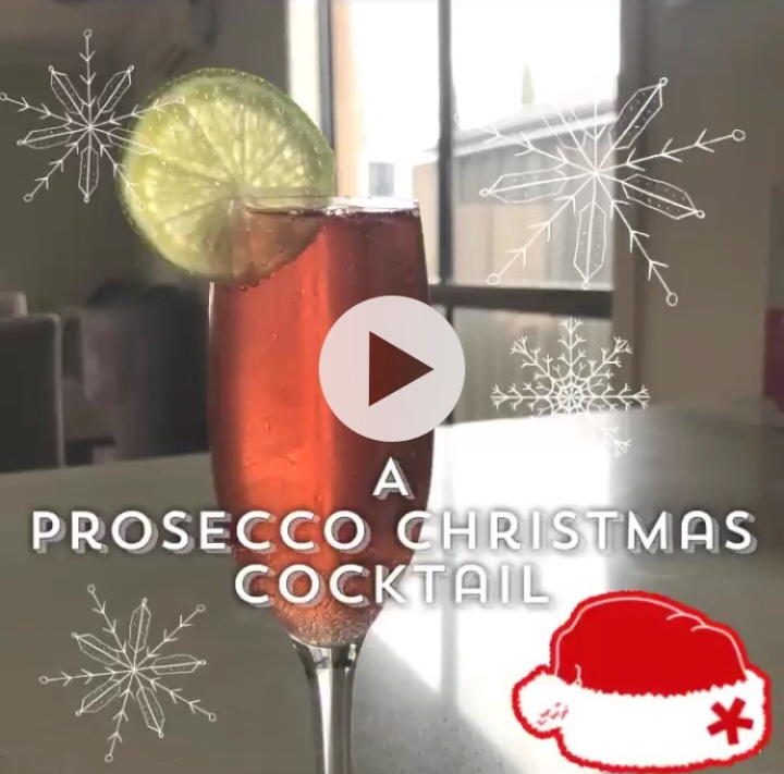 A Prosecco ChristmasCocktail
